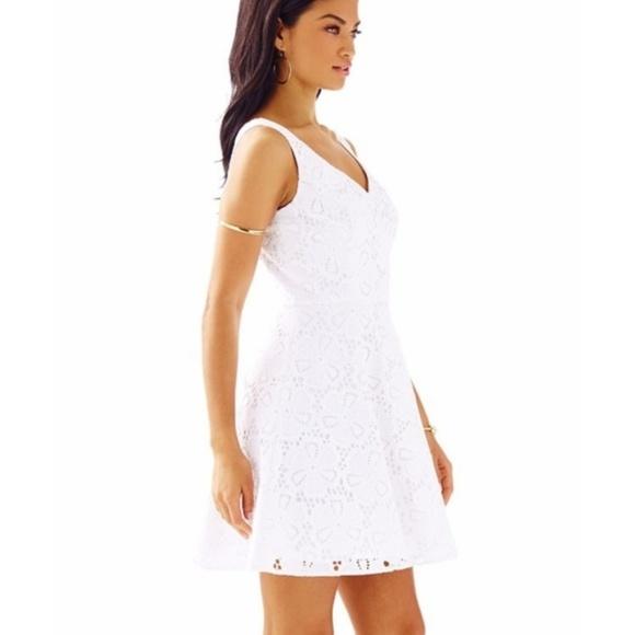 0bb8da46c4dffa Lilly Pulitzer Dresses & Skirts - Lilly Pulitzer Marla White V-Neck Eyelet  Dress 4